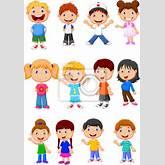 """Cuadro, Poster """"Niños conjunto de recopilación de dibujos animados"""""""