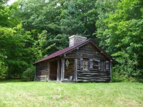 panoramio photo of log cabin in the woods