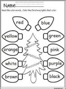 free christmas lights coloring activity practice color words terrific