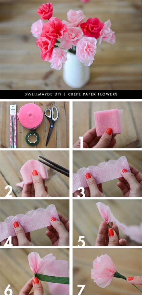 mothers day diy crepe paper flowers flowers