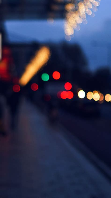 nc bokeh street lights city art blue wallpaper