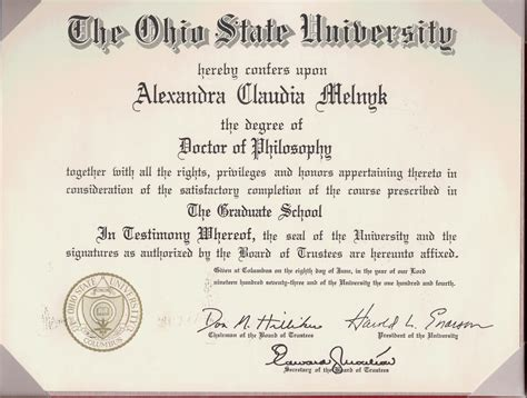 Broadcasting Ba Mba Colleges by Phd Diploma From Osu Alexandra Klaudia Melnyk Nee