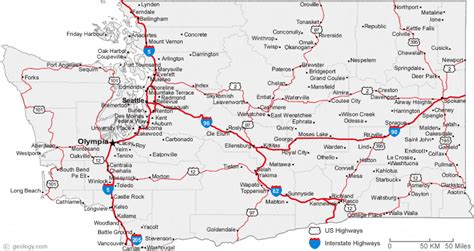 washing state map map of washington cities washington road map
