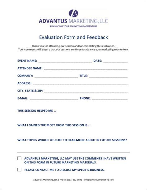 10 Marketing Evaluation Form Sles Templates Sle Templates Marketing Form Template