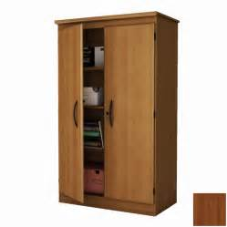 Storage Cabinets Lowes Shop South Shore Furniture Cherry 4 Shelf Office