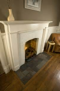 Tile To Hardwood Transition Eastwood Slate Fireplace Hearth Traditional Family