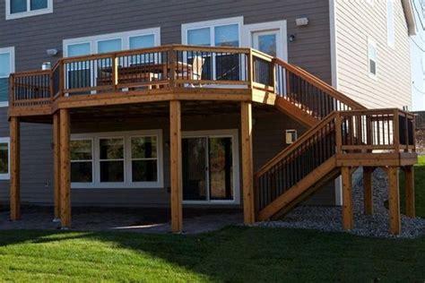 home designer pro walkout basement cedar deck decks and deck builders on pinterest