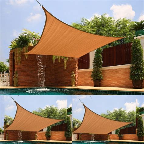 Patio Awning And Canopies Uv Sun Shade Outdoor Sun Screen Portable Fabric Awning