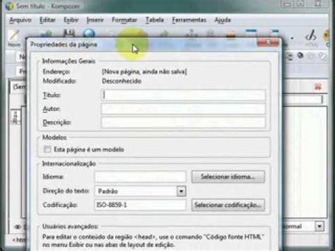 tutorial css kompozer kompozer video tutorial doovi