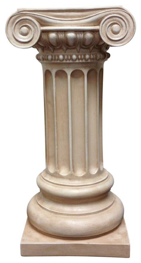 Lion Decor Home classic greek ionic pillar with platform pedestal column