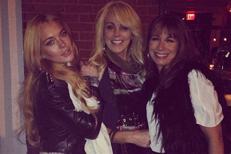 The Partying Never Stops For Lohan by Dina Lohan With Lindsay Lohan After Dui Arrest