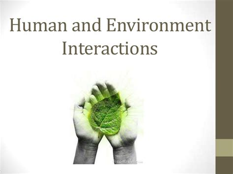 human and environment interactions