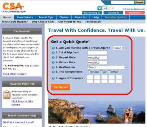 csa travel insurance review of csa travel insurance travel insurance review