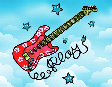 imagenes de guitarras faciles para dibujar dibujos de guitarras para colorear dibujos net