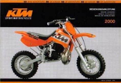 Ktm 50 Manual 2000 Ktm 50 Air Cooled Motorcycle Owners Handbook