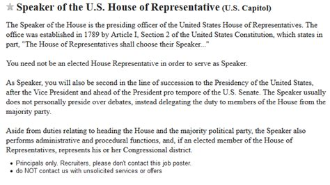 craigslist wanted section wanted ad on craigslist seeks speaker of the house