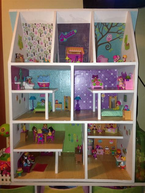 home made doll house gaby s lalaloopsy dollhouse homemade by her dad dollhouse pinterest dads
