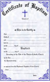catholic baptism certificate template certificates
