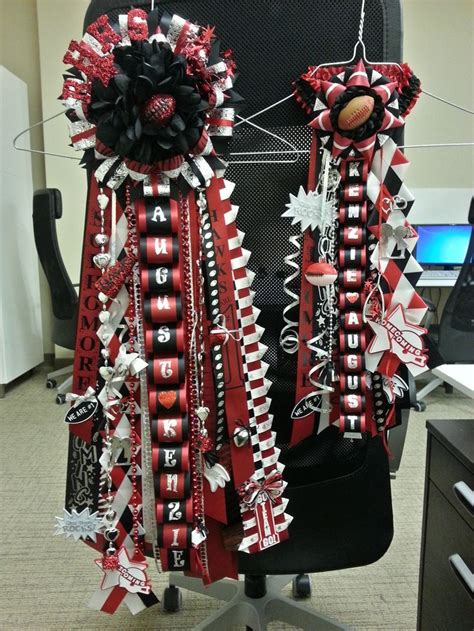 red and gold high school mum white homecoming mums homecoming pinterest homecoming mums