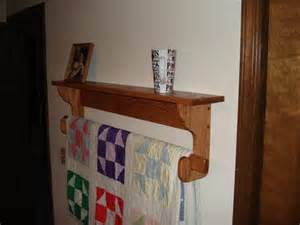 free wall mounted quilt rack plans plans diy free