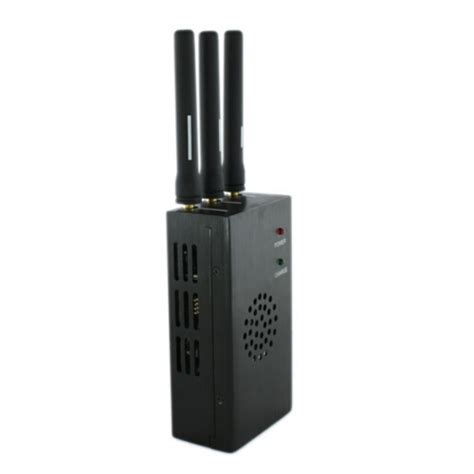 Wifi Jammer 3 antenna portable cell phone jammer wireless wifi jammer blocker with cooling fan 15m