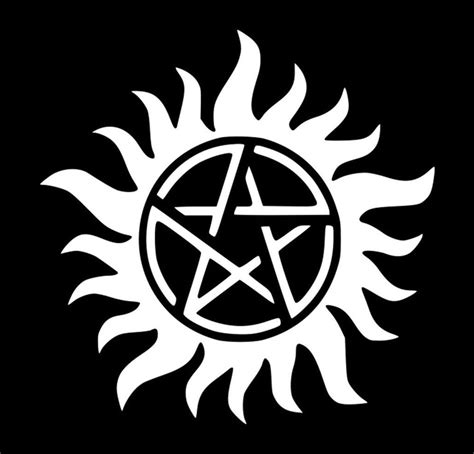 Supernatural Anti Possession Symbol Sam Dean Vinyl Decal Anti Possession