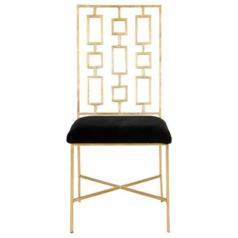 Gold Dining Chairs Worlds Away David Gold Leaf Dining Chair Black Velvet I Zinc Door