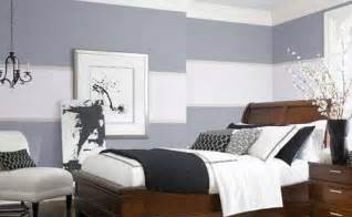 Bedroom Paint Ideas B And Q Wandfarbe Grau Graue Wand Mit Wei 223 En Streifen Freshouse