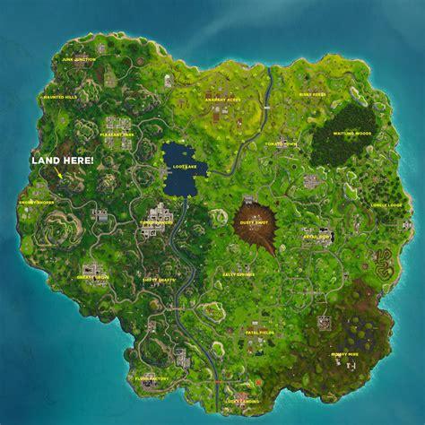 follow  treasure map   greasy grove fortnite