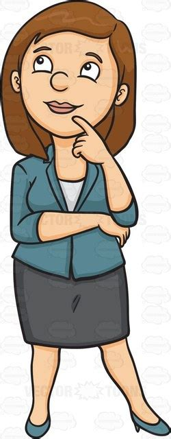 person thinking clipart a thinking of a bright idea clipart vector