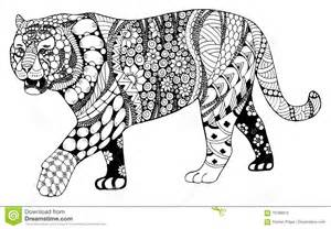 tiger chinese zodiac sign zentangle stylized vector illustrati stock vector image 70788910