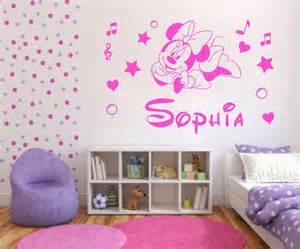 Wall Mural Childrens Bedroom minnie mouse d 233 coration de chambre pour b 233 b 233