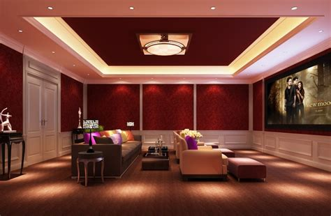 Home Interior Lighting Design Villa Home Theater Interior Design 3d House