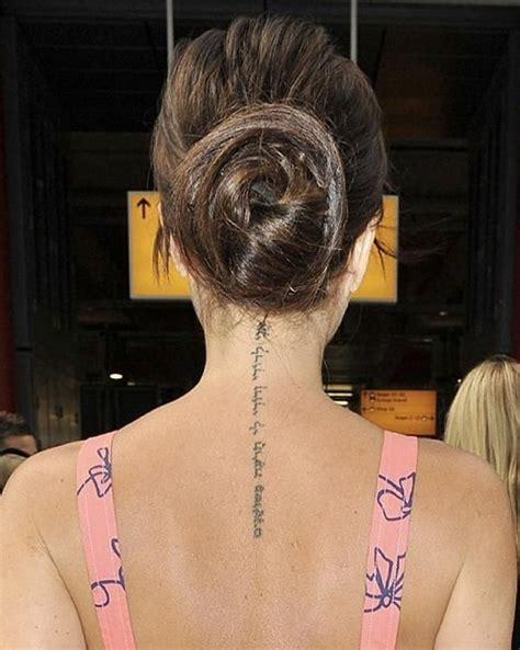 tattoo victoria beckham espalda victoria beckham s hebrew tattoo quot i am my beloved s and