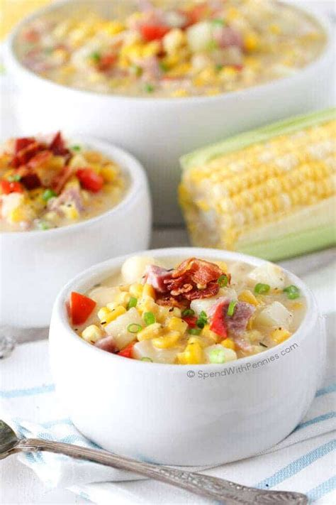 great dinner and ideas spend with pennies ham and corn chowder spend with pennies