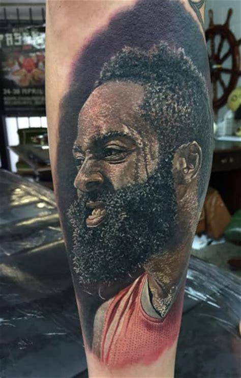 james harden tattoos realistic portrait tattoos of nba icons tattoodo
