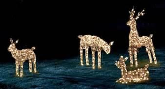 christmas light up deer christmas decorating