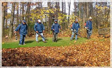 clean up landscaping leaf clean up landscaping and lawn care services