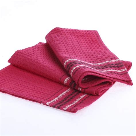 Kitchen Towels Pink Pink Waffle Weave Cloth Dish Towel Kitchen Towels
