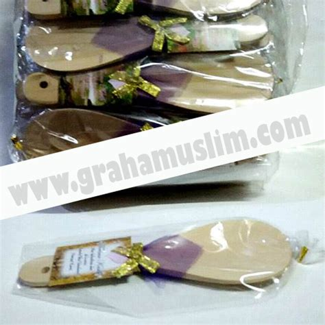 Centong Nasi Plastik Putih souvenir centong kayu putih bungkus plastik graha