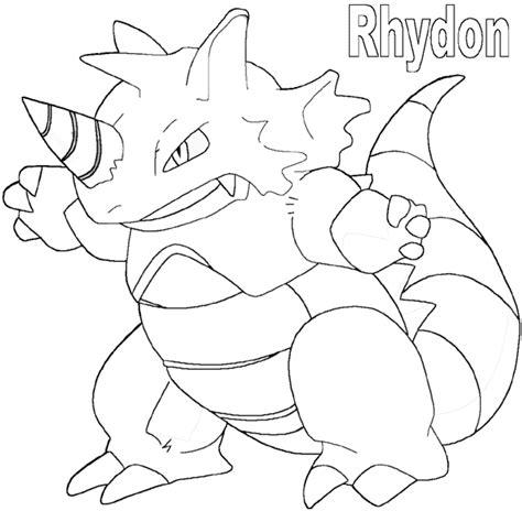 pokemon coloring pages rhyhorn kleurplaten