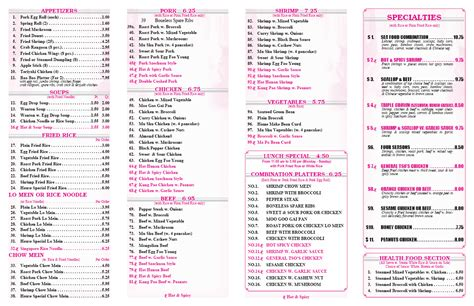 image gallery new china buffet menu