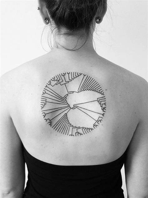minimal circle tat on back best tattoo ideas amp designs