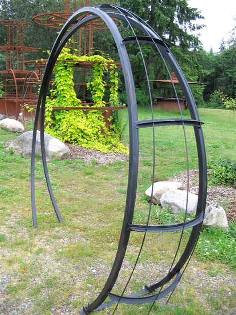 Garden Arch Metal Canada Buzzard Studios Moonbeam Garden Arch Artworks In Steel