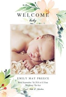 baby birth announcement templates (free) | greetings island