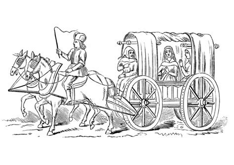 coloring pages and carriage dessin de carrosse a imprimer
