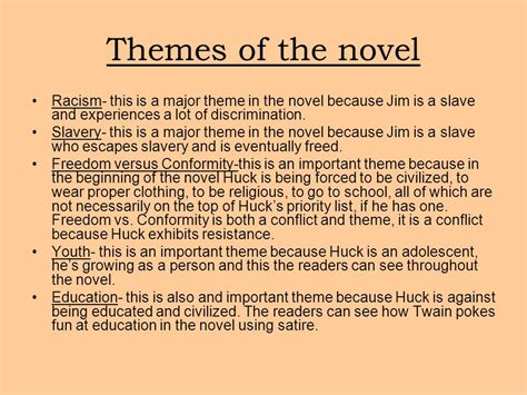 themes of nature in huckleberry finn the adventures of huckleberry finn ppt download
