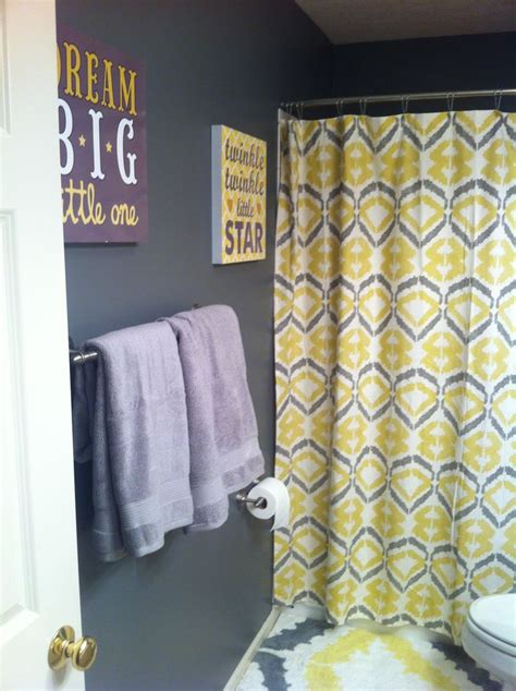 Yellow Bathroom Accessories Target Upstairs Bath Gray And Yellow West Elm Shower
