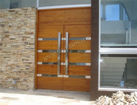 Contemporary Double Front Door by Foret Doors Port Saint Lucie Florida