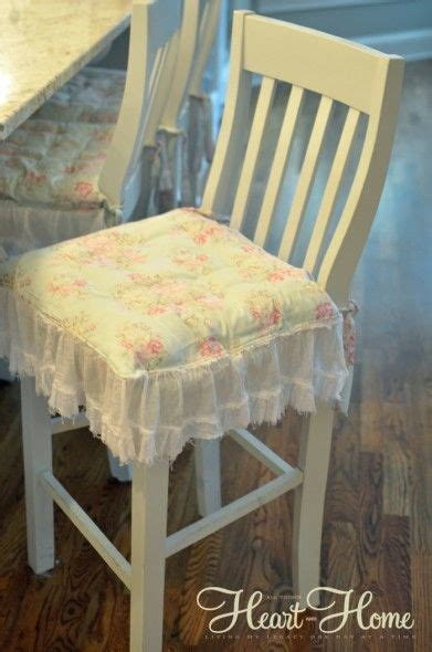 shabby chic chair cushions painted bar stools shabby